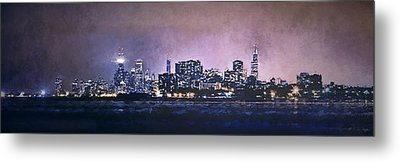 Chicago Skyline From Evanston Metal Print by Scott Norris