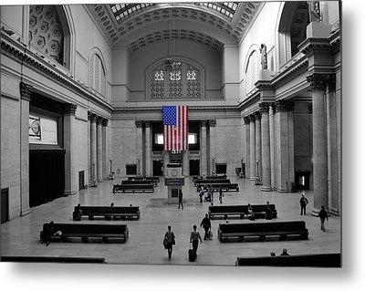 Metal Print featuring the photograph Chicago Union Station by Sheryl Thomas