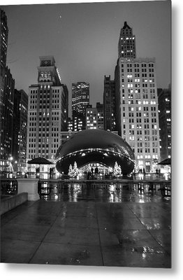 Chicago's Bean Metal Print