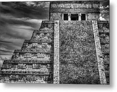 Chichen Itza-mayan Temple Metal Print by John Hamlon