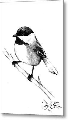 Chickadee Metal Print by Corinne States