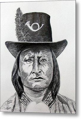 Chief Bird-arapahoe Metal Print by Stan Hamilton