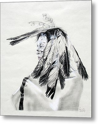 Chief Metal Print by Mayhem Mediums