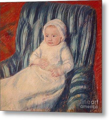 Child On A Sofa Metal Print by Mary Cassatt