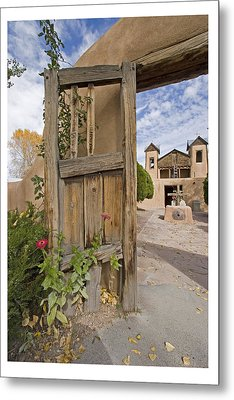 Chimayo Gate Metal Print