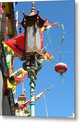 Metal Print featuring the photograph China Town by Fanny Diaz
