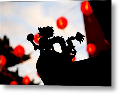 Chinatown Dragon Metal Print