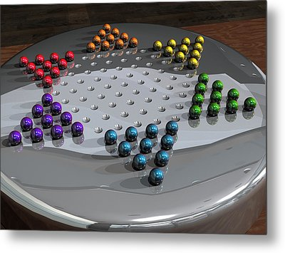 Chinese Checkers Metal Print