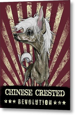 Chinese Crested Revolution Metal Print