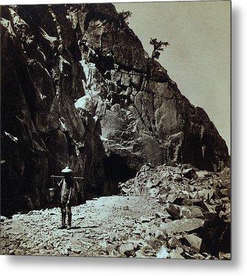 Chinese Railroad Worker Wearing Metal Print by Everett