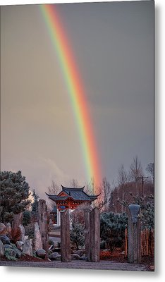Chinese Reconciliation Park Rainbow Metal Print