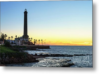 Chipiona Lighthouse Cadiz Spain Metal Print by Pablo Avanzini