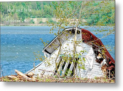 Chippewa Lake Park Now 1 Metal Print by Lila Fisher-Wenzel