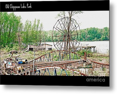 Chippewa Lake Park Now 2 Metal Print by Lila Fisher-Wenzel