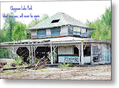 Chippewa Lake Park Now 3 Metal Print by Lila Fisher-Wenzel