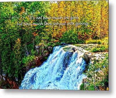Metal Print featuring the photograph Chittenango Falls, Ny Mother Teresa  by Diane E Berry