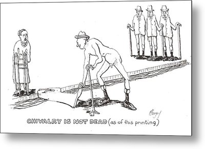 Metal Print featuring the drawing Chivalry by R  Allen Swezey