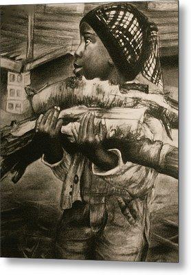 Chores Metal Print by Curtis James