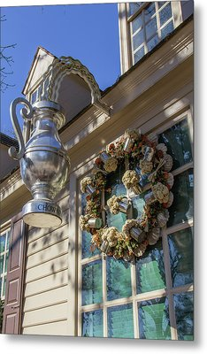 Chownings Wreath 02 Metal Print by Teresa Mucha