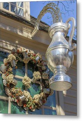 Chownings Wreath 03 Metal Print by Teresa Mucha