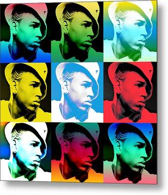 Chris Brown Warhol By Gbs Metal Print by Anibal Diaz