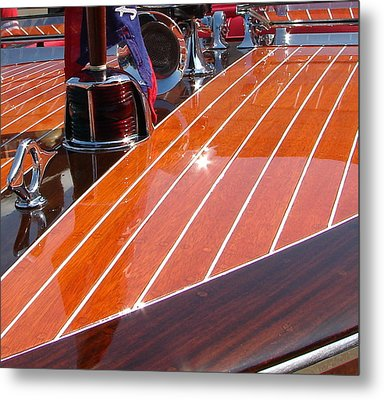 Chris Craft Bow Metal Print by Michelle Calkins