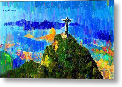 Christ Above All In Rio 1 - Da Metal Print