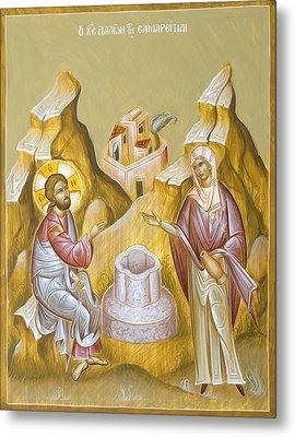 Christ And The Samaritan Woman Metal Print