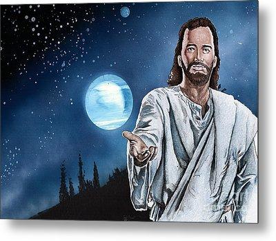Christ At Night Metal Print by Bill Richards