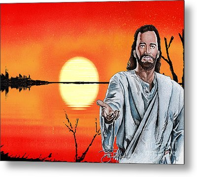 Christ At Sunrise Metal Print by Bill Richards