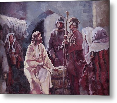 Christ At The Well Metal Print by Layne Brady