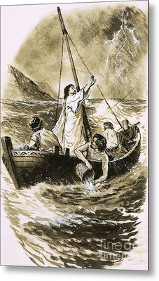 Christ Calming The Storm Metal Print