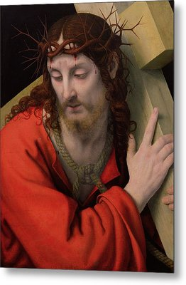 Christ Carrying The Cross Metal Print by Andrea Solario