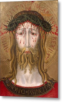 Christ Crowned With Thorns  Metal Print by Benedetto Bonfigli