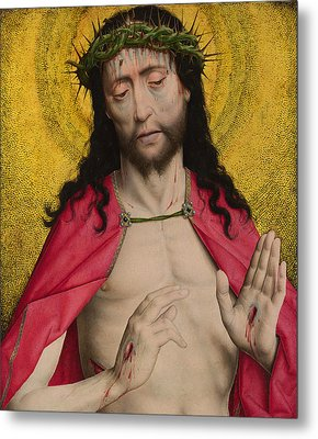 Christ Crowned With Thorns Metal Print by Dirck Bouts