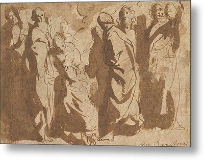 Christ Healing The Paralytic Metal Print