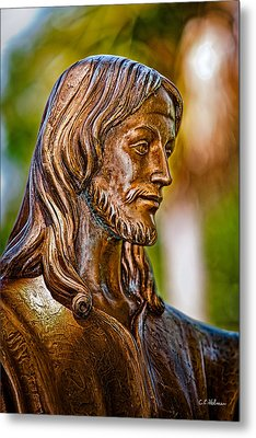 Christ In Bronze Metal Print