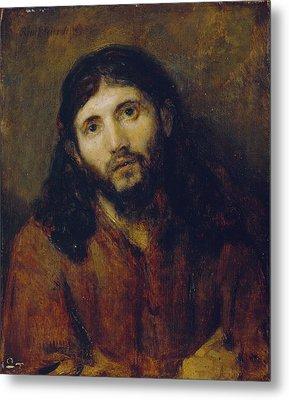 Christ Metal Print by Rembrandt Harmensz van Rijn