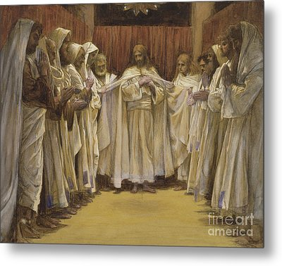 Christ With The Twelve Apostles Metal Print by Tissot