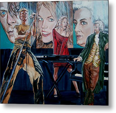 Metal Print featuring the painting Christine Anderson Concert Fantasy by Bryan Bustard