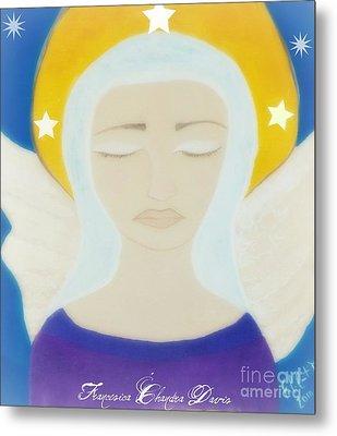 Christmas Angel Metal Print by Sacred  Muse