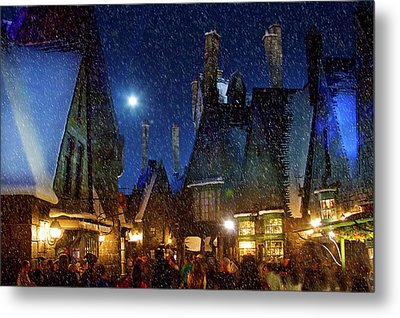 Christmas At Hogsmeade Blank Metal Print