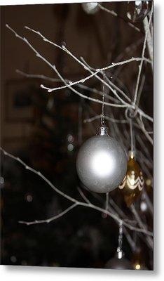 Christmas Bauble Metal Print by Yvonne Ayoub