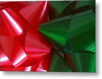Christmas Bows 1 Metal Print by Steve Ohlsen