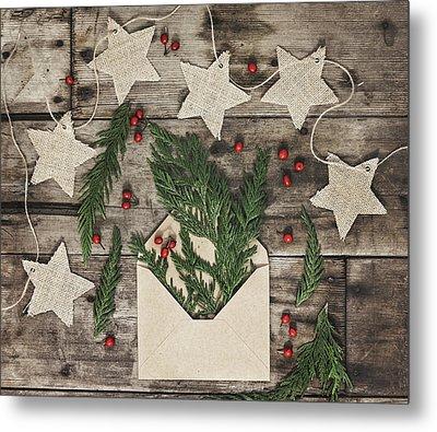 Metal Print featuring the photograph Christmas Greens by Kim Hojnacki