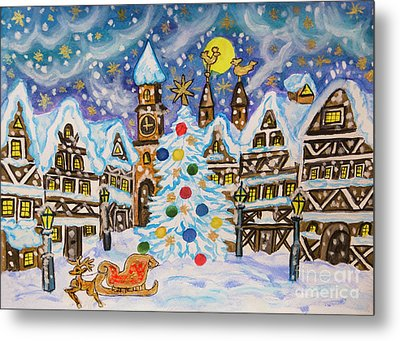 Christmas In Europe Metal Print