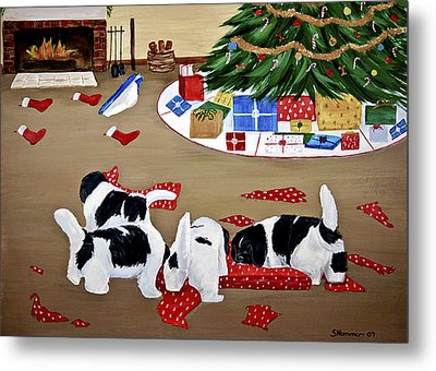 Metal Print featuring the painting Christmas Mischief by Sharon Nummer