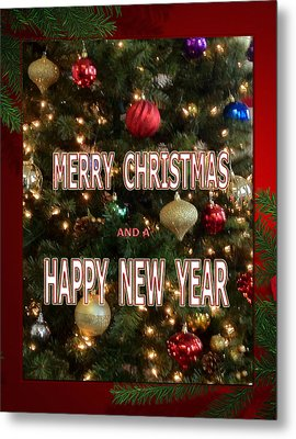 Christmas New Year Card Metal Print