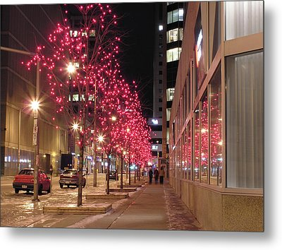 Christmas On Ottawa Street Metal Print by Richard Mitchell