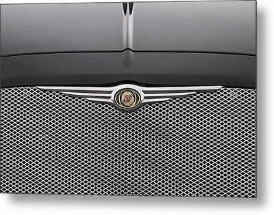 Chrysler 300 Logo And Grill Metal Print